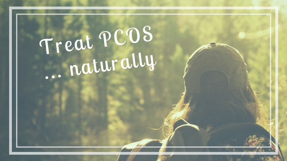 woman with PCOS hiking outside natural treatment