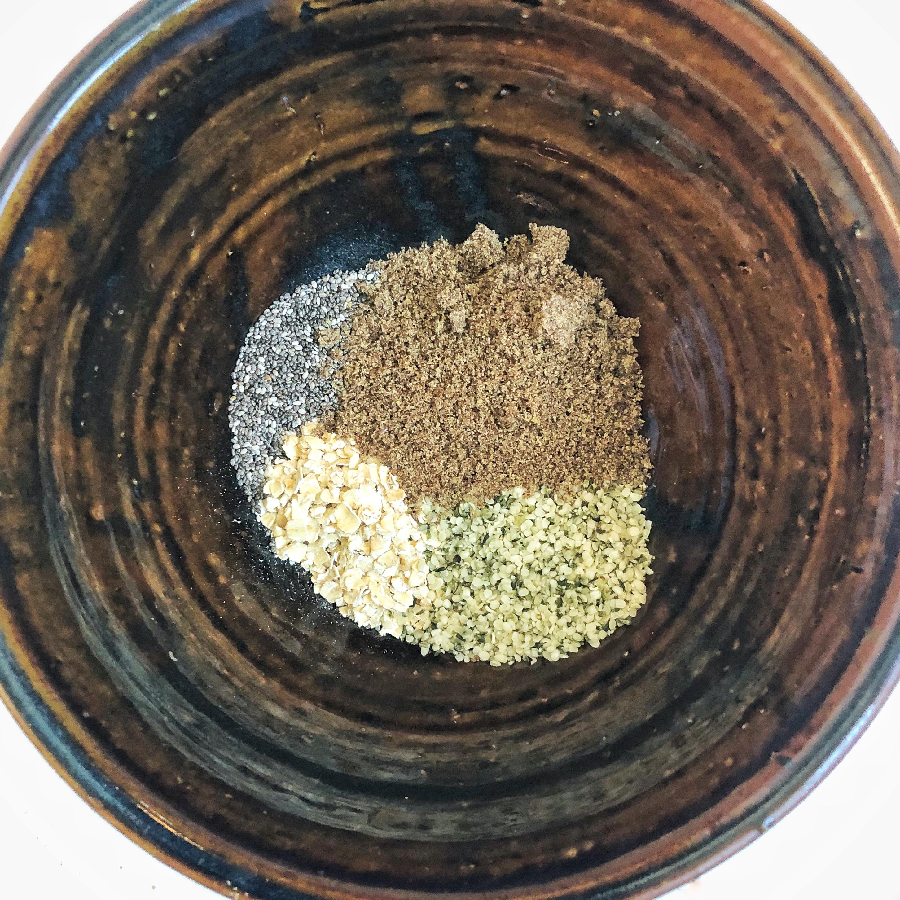 oatmeal hemp chia flax