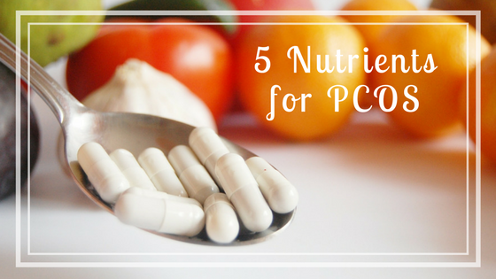 PCOS supplements food and vitamins